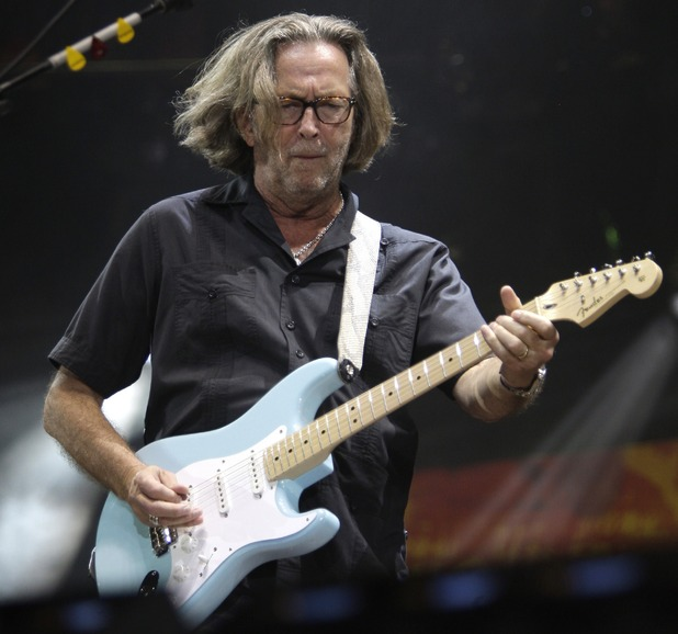 Eric Clapton performs during the Crossroads Guitar Festival in Chicago.