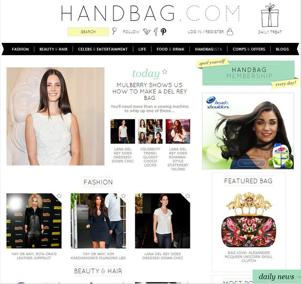 Handbag.com launches new-look website