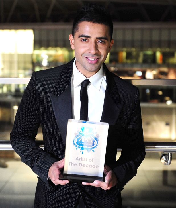 Jay Sean receives the Asian Music Awards' Most Decorated Artist Award at the Wembley Hilton in London.