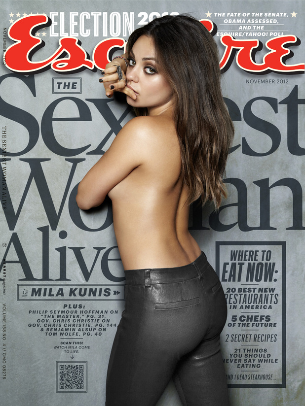 Mila Kunis appears on the front cover of the November edition of Esquire (US)