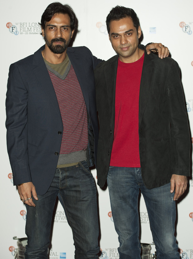 Arjun Rampal and Abhay Deol pictured at a photocell for Chakravyah, held in the Empire Leicester Square as part of the BFI London Film Festival 2012.