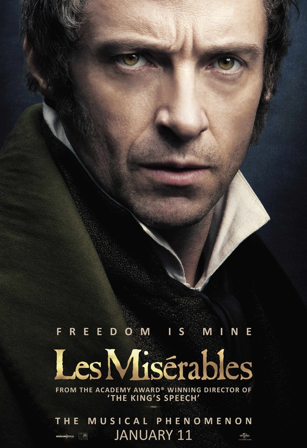Les Misérables': Hugh Jackman as Jean Valjean - poster
