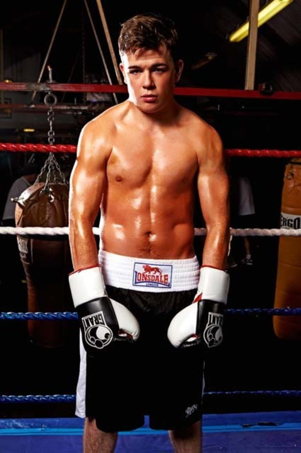 Eoghan Quigg of 'X Factor' poses for Now.