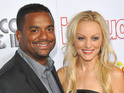 Alfonso Ribeiro weds his girlfriend Angela Unkrich in Los Angeles on Saturday.