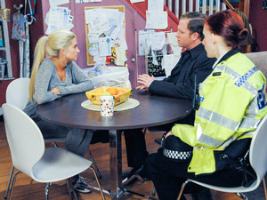 Debbie questioned by the police in Emmerdale