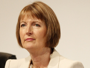 Deputy leader of the Labour Party Harriet Harman speaks during the Labour Party Conference at the Echo Arena in Liverpool. (26/09/2011)