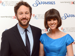 Chris O&#39;Dowd and wife Dawn Porter arriving for the premier of The Sapphires at the Odeon West End, London.