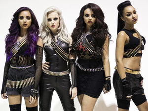 BTS shots from Little Mix's 'DNA' video shoot