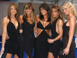 Girls Aloud during the Glamour Women Of The Year Awards at Berkeley Square in central London - the first annual award ceremony held by the women's magazine.
