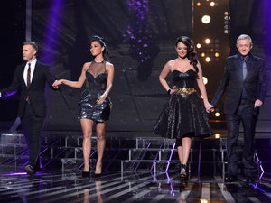 The X Factor Results Show: The judges.