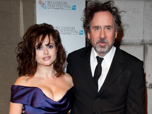 Helena Bonham-Carter and Tim Burton attending the BFI London Film Festival Awards.