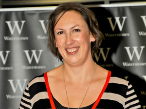 Miranda Hart attends the signing for her new self-help book 'Is It Just Me?'.