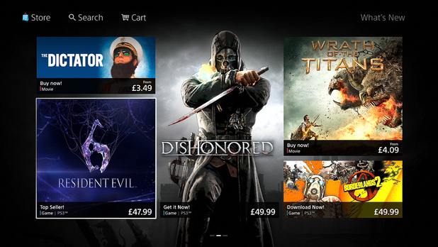 PlayStation Store 2nd tab