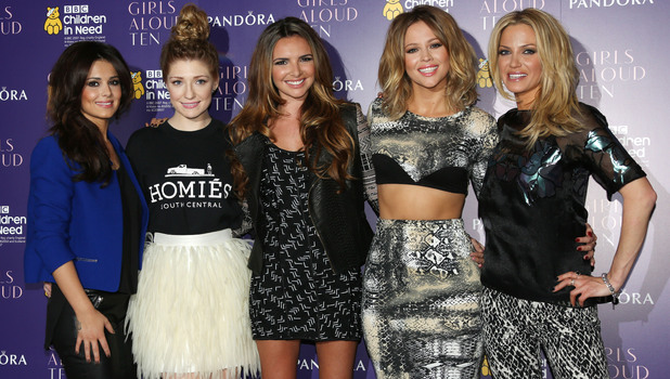 Cheryl Cole, Nicola Roberts, Nadine Coyle, Kimberley Walsh, Sarah Harding Girls Aloud announce the release of their new single, album and tour - Arrivals London, England - 19.10.12Mandatory Credit: Lia Toby/WENN.com