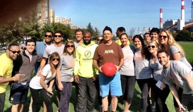 Bill Murray crashes kickball game