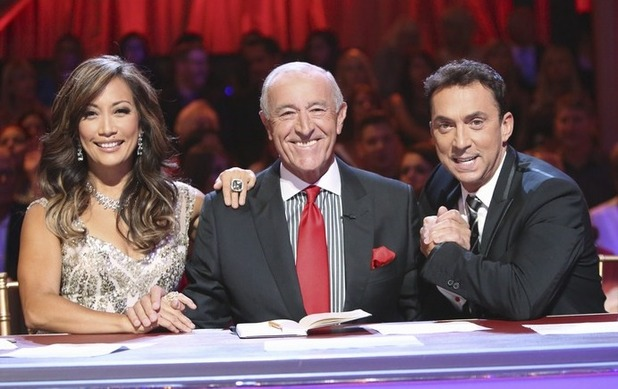 Dancing with the Stars judges Carrie Ann Inaba, Len Goodman and Bruno Tonioli