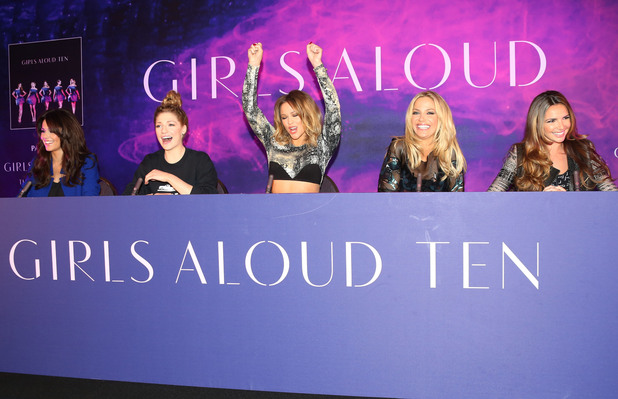 Cheryl Cole, Nicola Roberts, Kimberley Walsh, Sarah Harding and Nadine Coyle Girls Aloud announce the release of their new single, album and tour - Arrivals London, England