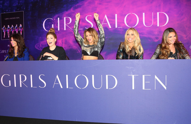 Cheryl Cole, Nicola Roberts, Kimberley Walsh, Sarah Harding and Nadine CoyleGirls Aloud announce the release of their new single, album and tour - ArrivalsLondon, England