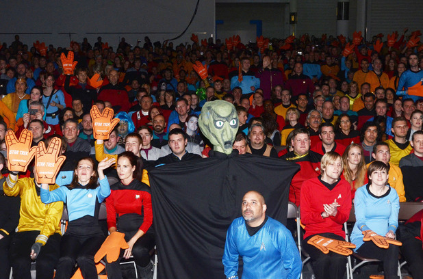 Star Trek fans made history by breaking the record for the most people dressed in Star Trek costume and will be officially verified by Guinness World Records.