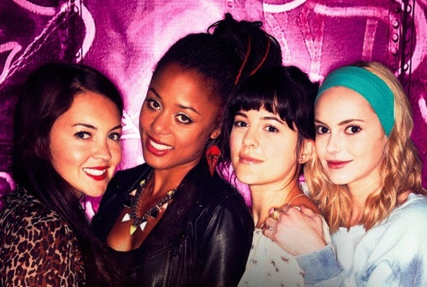 Lacey Turner, Hannah Tointon, Nina Toussaint-White and Phoebe Fox in ITV2's 'Switch'