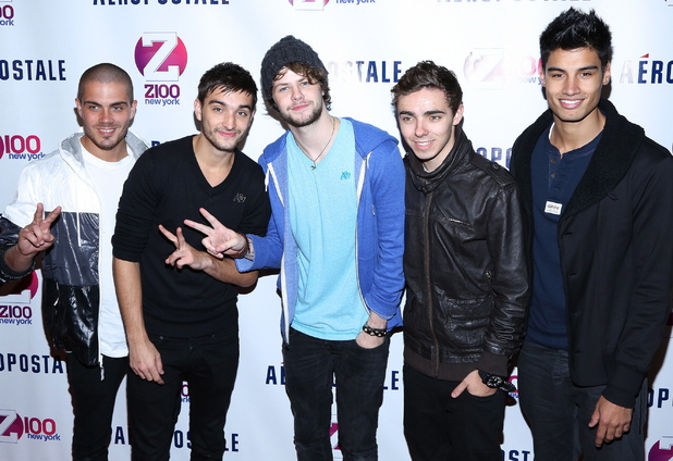 The Wanted at Z100's Jingle Ball in New York.