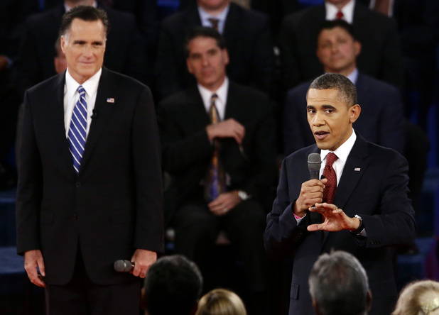 Obama/Romney second debate at Hofstra University, NY