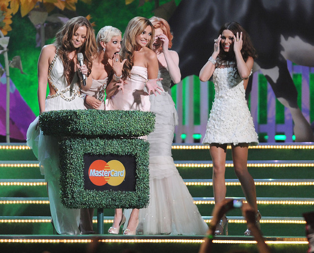 Kimberley Walsh, Sarah Harding, Nadine Coyle, Nicola Roberts and Cheryl Cole of Girls AloudThe 2009 BRIT Awards - Show held at Earls CourtLondon, England