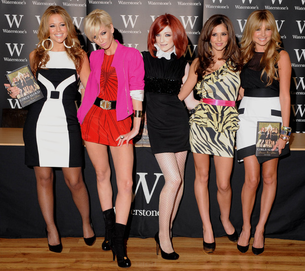 Kimberley Walsh, Sarah Harding, Nicola Roberts, Cheryl Cole and Nadine Coyle of Girls AloudSigning their book 'Dreams that Glitter: Our Story' at Waterstone's Piccadilly.