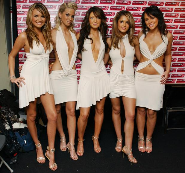 Girls Aloud backstage during the Smash Hits T4 Poll Winners party 2004,