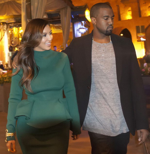 Kim Kardashian and Kanye West leaving a restaurant after having dinner Rome, Italy - 18.10.12 **Available for publication in UK, Germany, Austria, Switzerland. Not available for publication in the rest of the world** Mandatory Credit: Agostino Fabio/WENN.com
