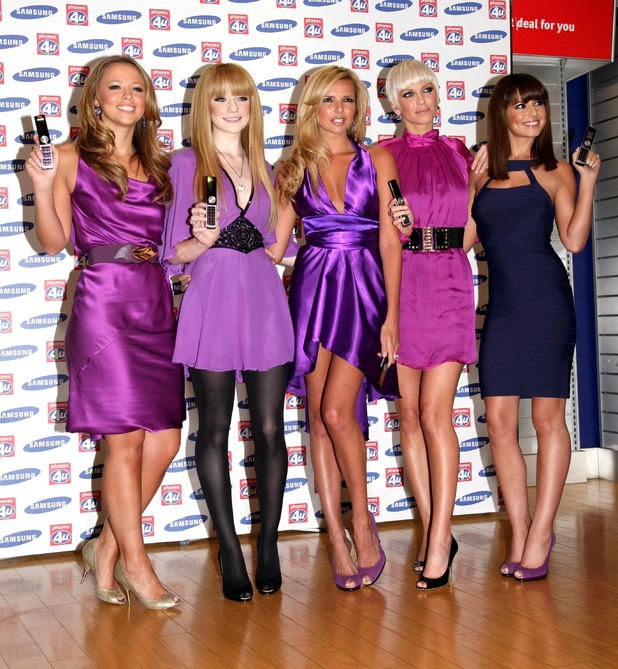 Girls Aloud, launch of the Samsung F210 Purple