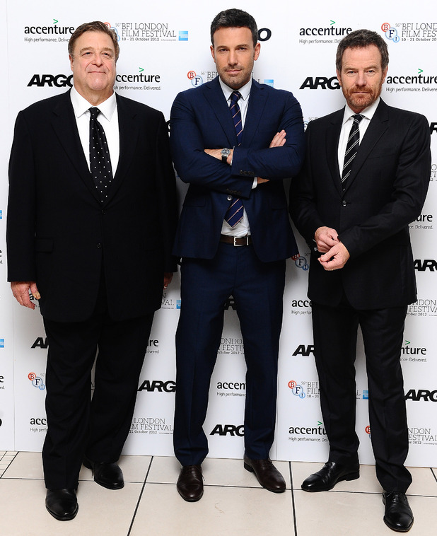 John Goodman, Ben Affleck and Bryan Cranston arrives at the screening of new film Argo at the Odeon cinema in London (17/10/2012)