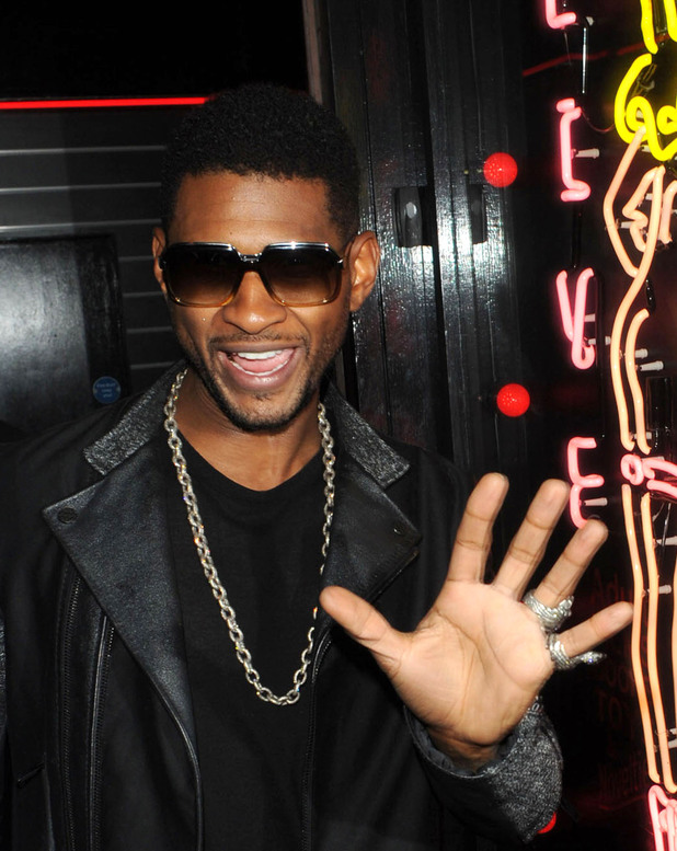 Usher leaving his birthday party at La Boccia London, England - 14.10.12 Mandatory Credit: WENN.com
