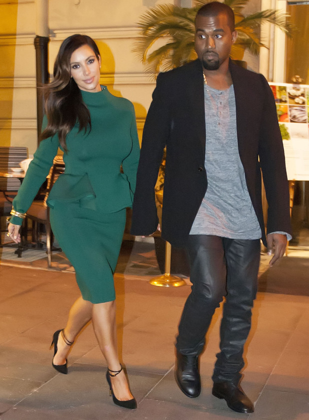 Kim Kardashian and Kanye West arrive back at their hotel in Rome