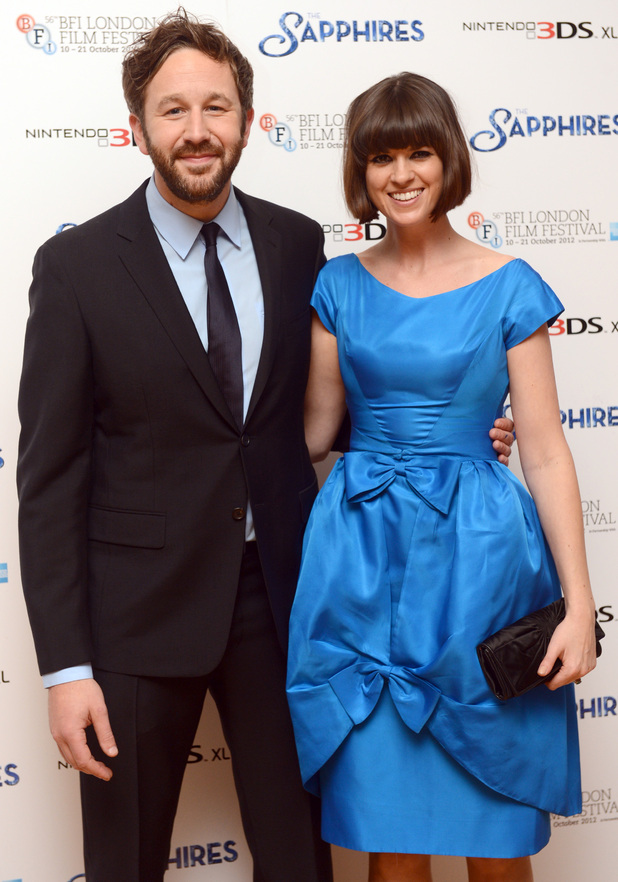 Chris O'Dowd and wife Dawn Porter arriving for the premier of The Sapphires at the Odeon West End, London.