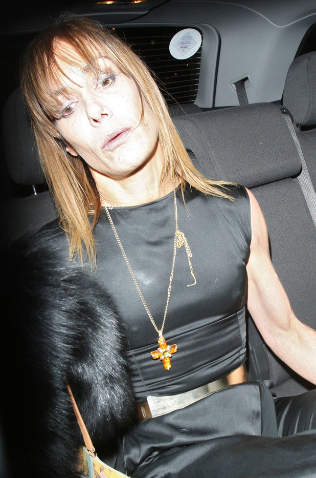 Tara Palmer-Tomkinson leaving the Attitude Magazine Awards held at One Mayfair London, England