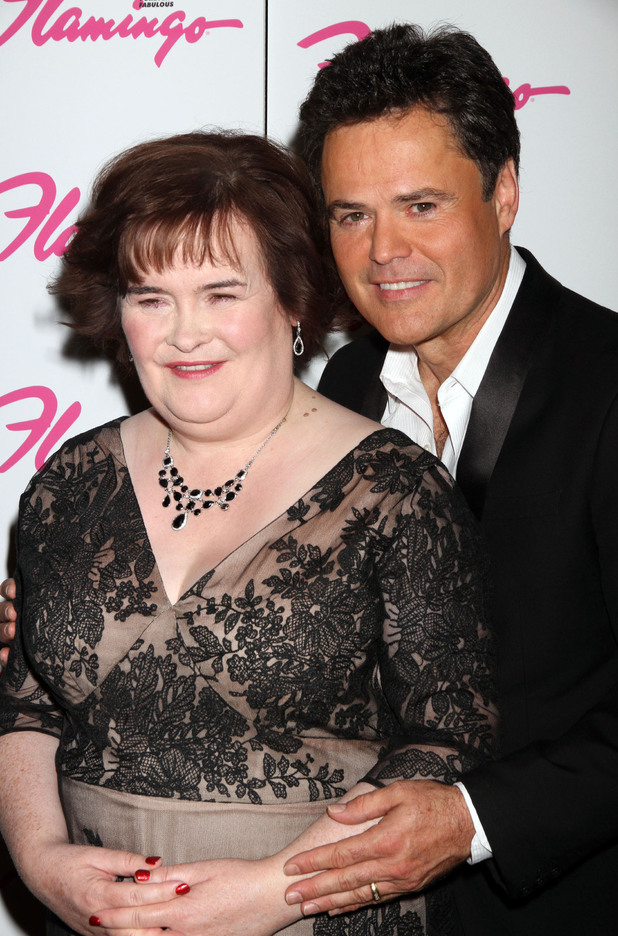 Susan Boyle makes a guest appearance at the the Donny & Marie Show at The Flamingo Hotel and Casino Las Vegas, Nevada