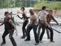 The video marks the return of AMC's hit zombie drama.
