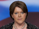 Maria Miller, Secretary of State for Culture, Media and Sport speaks at Britain's Conservative Party Conference, Birmingham, England.