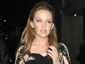 Kylie Minogue leaving Nobu restaurant London, England