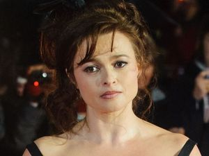 Helena Bonham Carter arrives for a screening of 'Great Expectations' at the 56th BFI London Film Festival closing night gala film at Oden Leicester Square