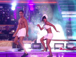 ABC's 'Dancing with the Stars: All-Stars' Season 15, Episode 10 - team freestyle to 'Gangnam Style' - Gilles Marini and Peta Murgatroyd