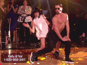 ABC's 'Dancing with the Stars: All-Stars' Season 15, Episode 10 - team freestyle to 'Gangnam Style' - Kelly Monaco and Val Chmerkovskiy
