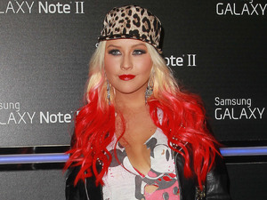 Christina Aguilera Samsung Mobile Launch Party For The New Samsung Galaxy Note II - Arrivals Beverly Hills, California