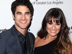Darren Criss and Lea Michele arrive at the Big Brothers, Big Sisters of Greater Los Angeles Rising Stars Gala.