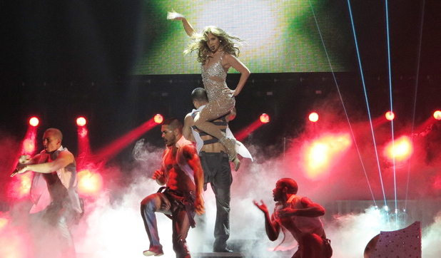 Jennifer Lopez performs live at the O2 Arena in London