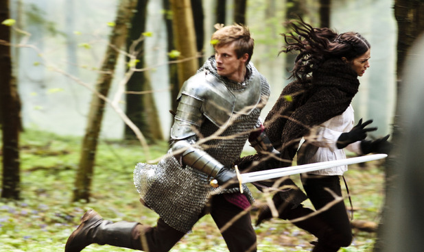 King Arthur Pendragon (Bradley James), Princess Mithian (JANET MONTGOMERY)