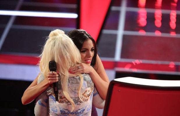 The Voice (USA) - final battle rounds: Christina Aguilera and Adriana Louise