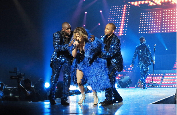 Jennifer Lopez performs live
