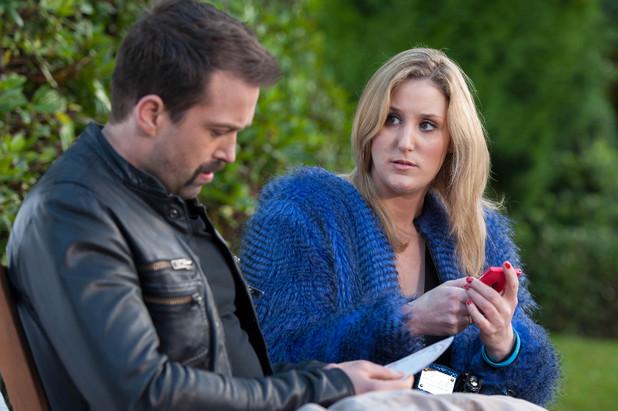 Cheryl sees Brendan is upset.